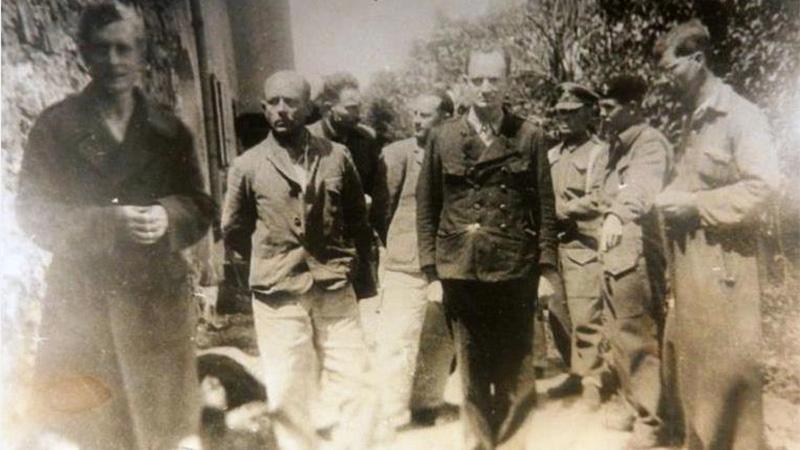 Gauleiter Friedrich Rainer in britischer Gefangenschaft Tea Time Wolfsberg