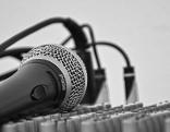 Mikrofon auf Mischpult