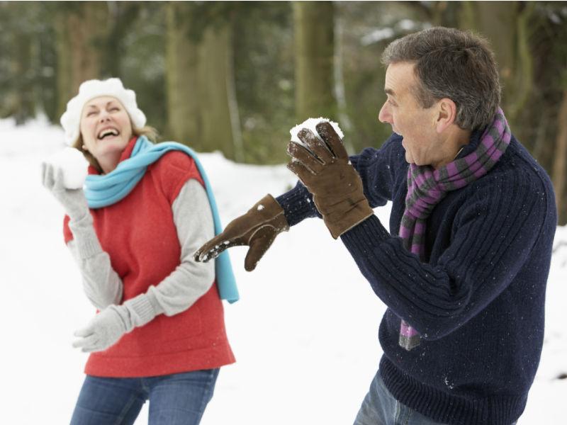 Senioren Schneeballschlacht