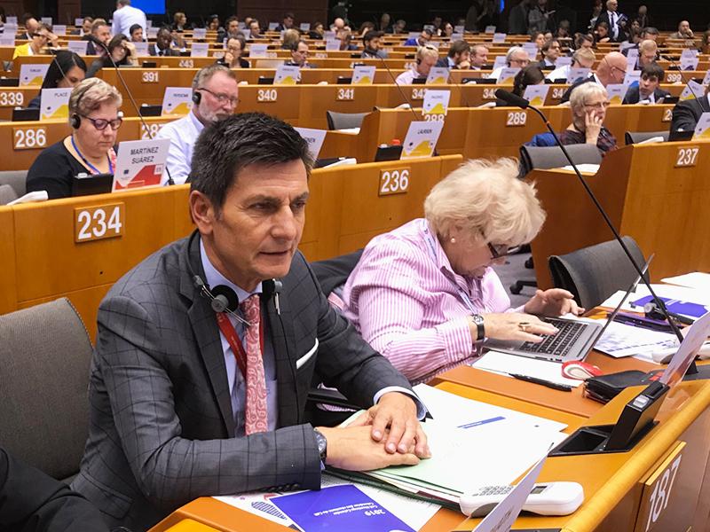 Christian Illedits beim Ausschuss der Regionen in Brüssel