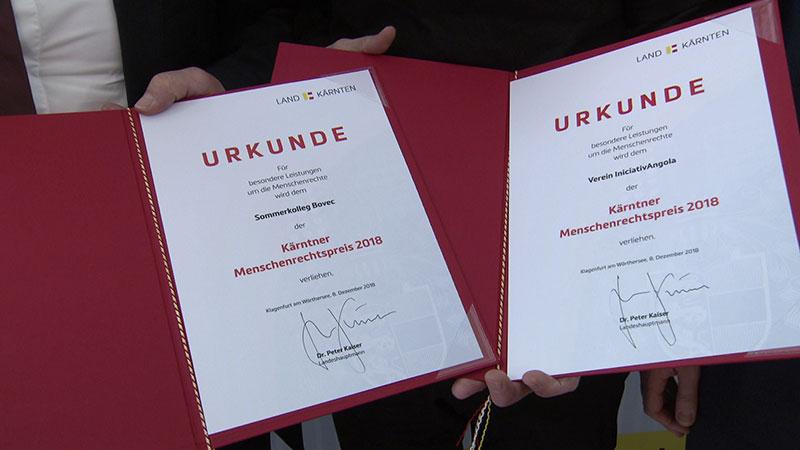 Menschenrechtspreis 2018 Rozenzopf Wakounig