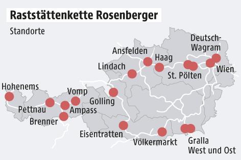 Grafik zu Rosenberger-Standorten