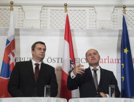 Wolfgang Sobotka mit Andrej Danko