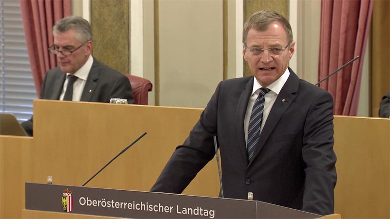 Landeshauptmann Thomas Stelzer Landtag