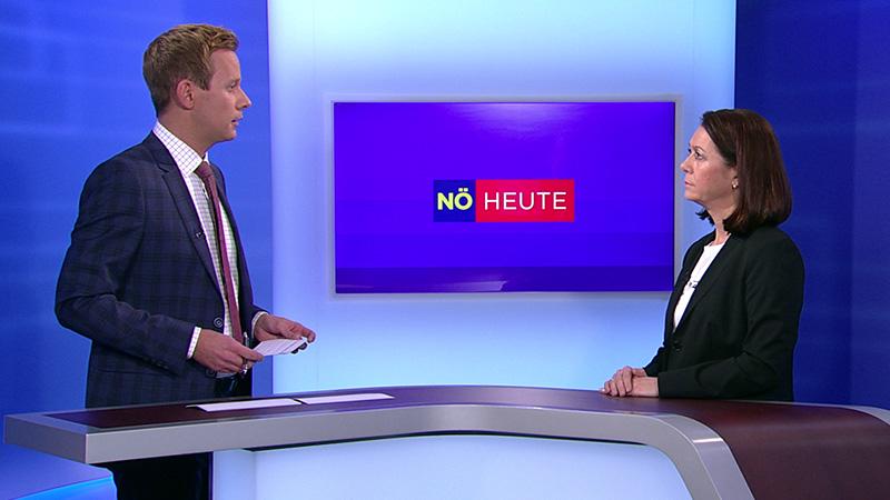 Moderator Thomas Birgfellner im Gespräch mit Anna Entenfellner