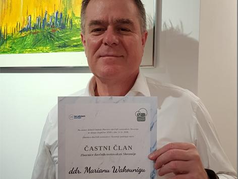 Marian Wakounig častni član davčni svetovalci Slovenija