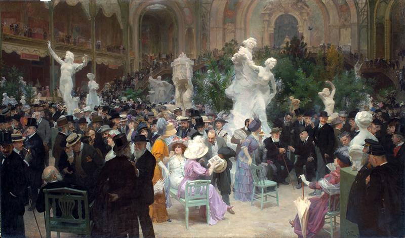 """""""Un Vendredi au Salon des Artistes Français"""" von Jules-Alexandre Grün (1911) Musée des Beaux-Arts"""