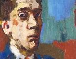 Oskar Kokoschka Selbstbildnis mit gekreuzten Armen 1913 Ausstellung Kunsthalle Zürich