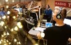 Radiostudio bei der Wunschhit-Sendung