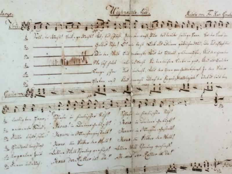 Textautograph von Joseph Mohr