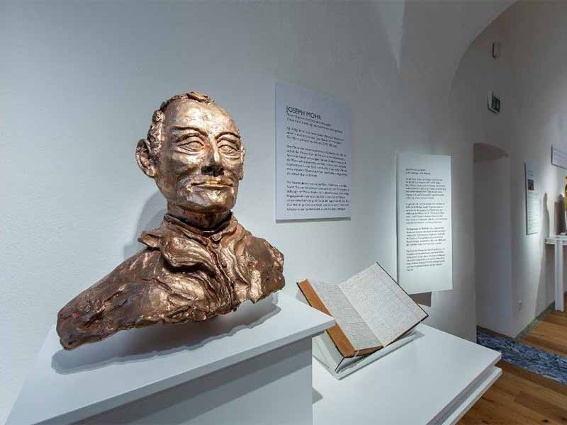 Büste von Joseph Mohr im Stille Nacht-Museum Mariapfarr
