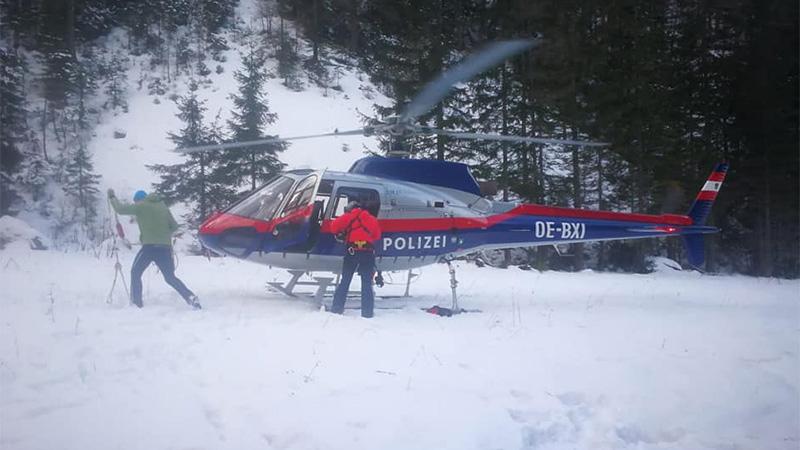 Bergrettung Polizeihubschrauber Ferlach Hochstuhl