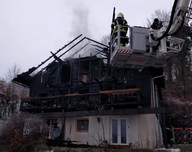 Brand Mehrparteienhaus