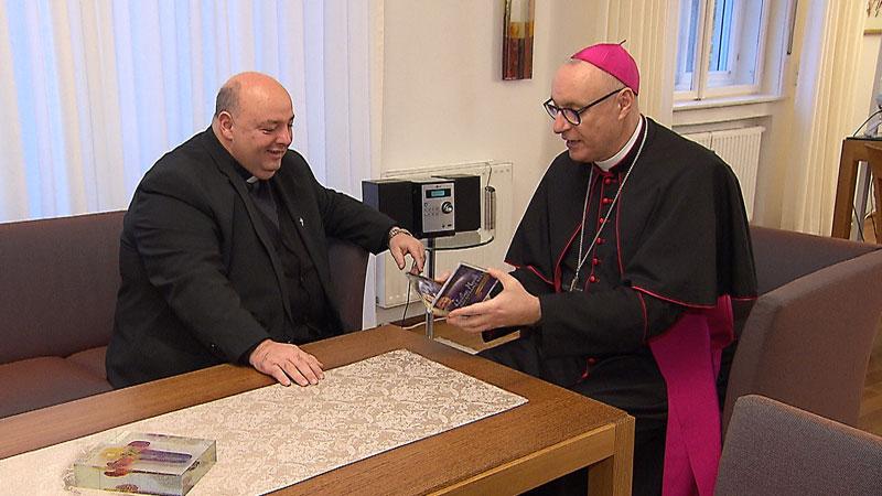 Pfarrer Franz Brei und Ägidius Zsifkovics