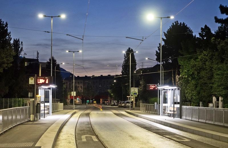Gleise der Straßenbahn in der Reichenauerstraße