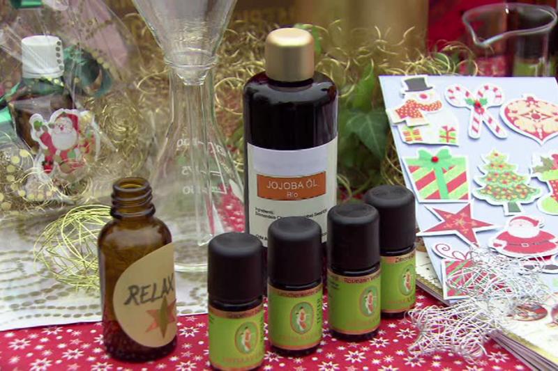 Selbstgemachte Massageöle als Weihnachtsgeschenk