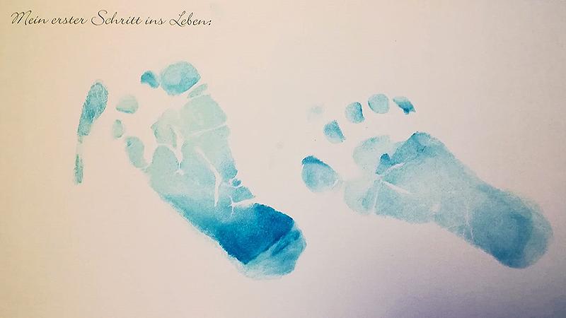 Kathrin Zettel Sohn Leon Fußabdruck