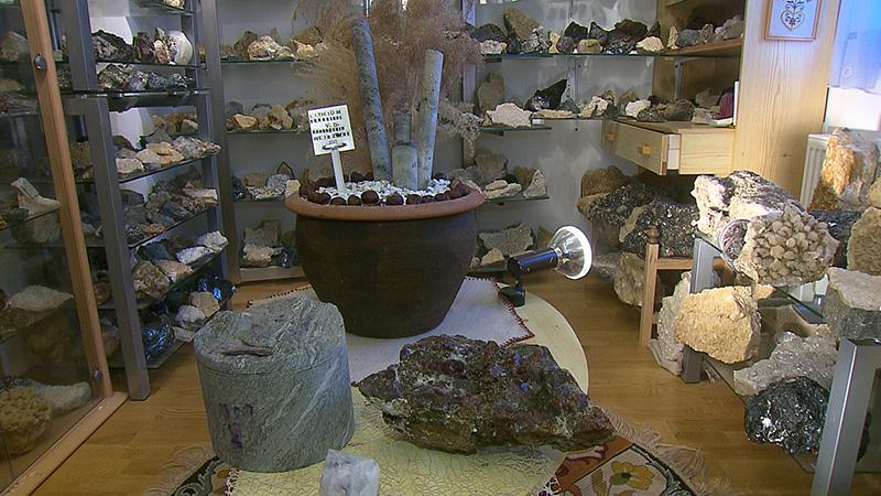 Mineraliensammler Franz Zoidl Bohrkern Koralm und Lithium