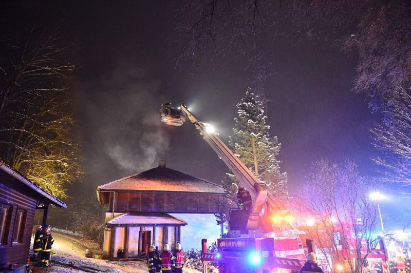 Familienhaus in Brand