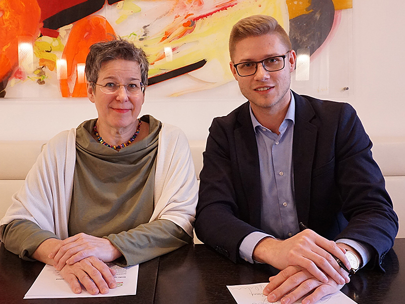 Regina Petrik und Patrick Fazekas