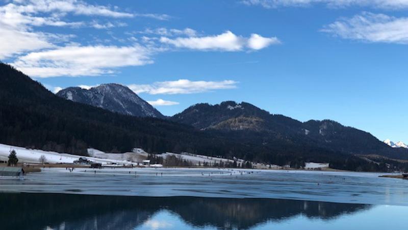 Eislaufen Weissensee Weißensee Norbert Jank