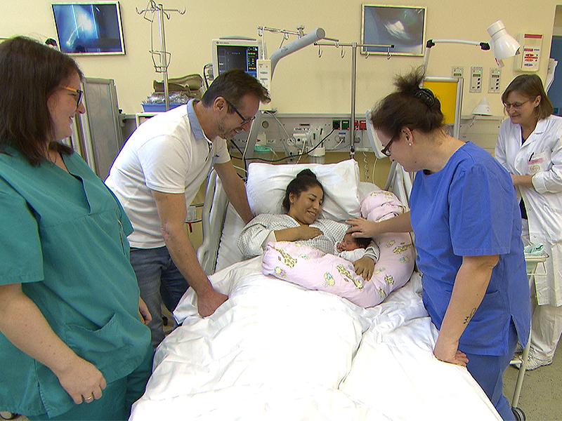 Neujahrsbaby im Krankenhaus Hietzing
