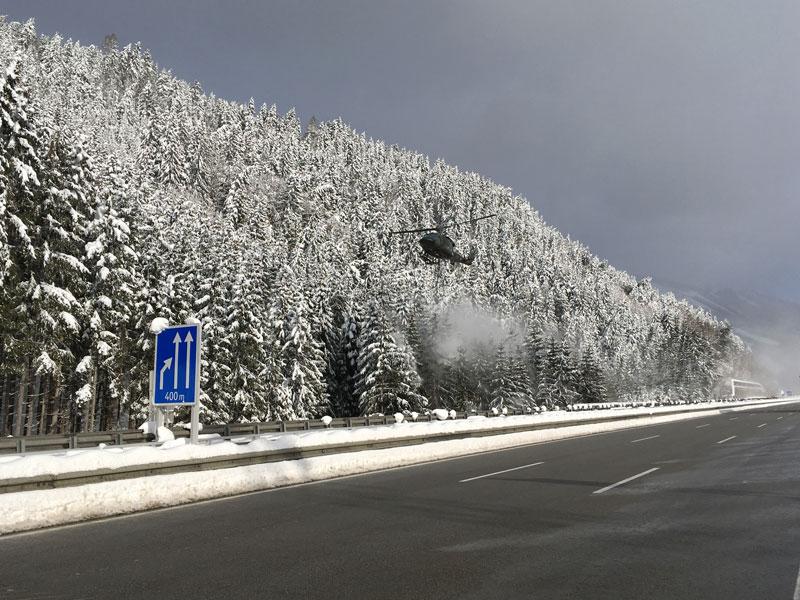 Schnee Einsatz ASFINAG