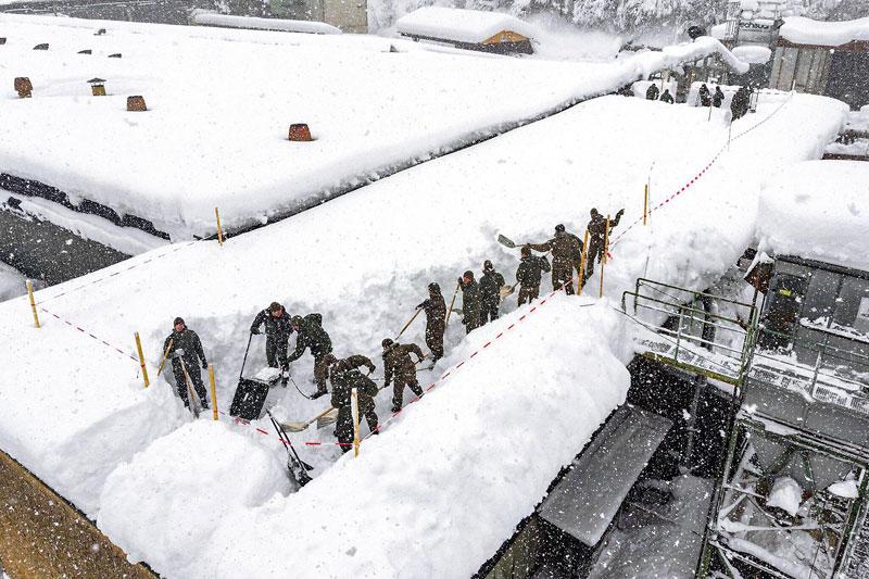Bundesheer beim Schneeräumen