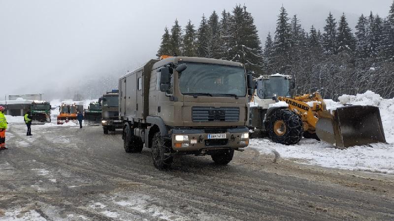 Hochkar Bundesheer Schnee Katastrophengebiet