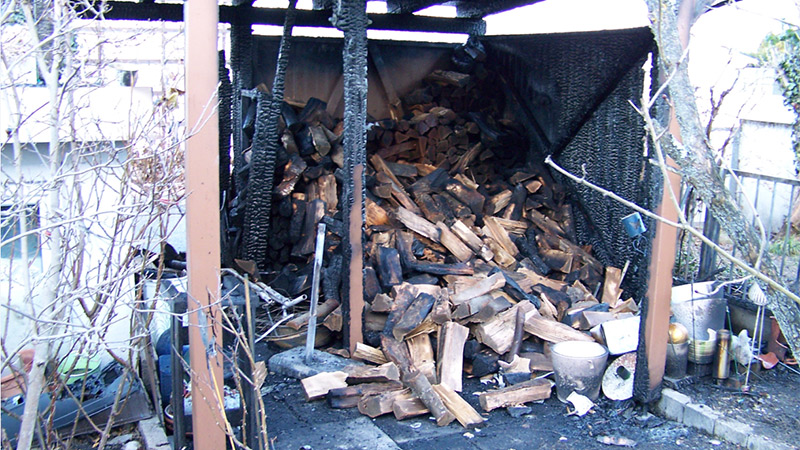 Gartenhütte Brand Brandstiftung Klagenfurt