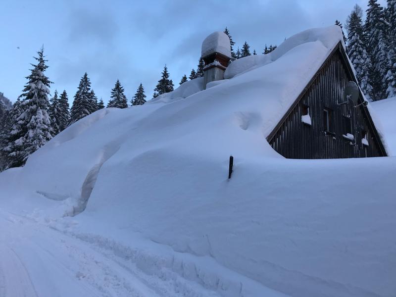 Haus in Annaberg Schnee