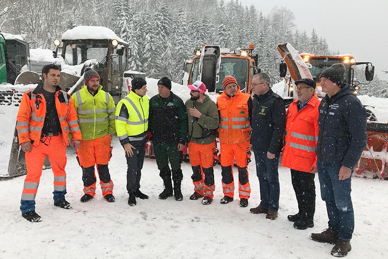 Hochkar Alpenstraße Schneeräumung Kommission