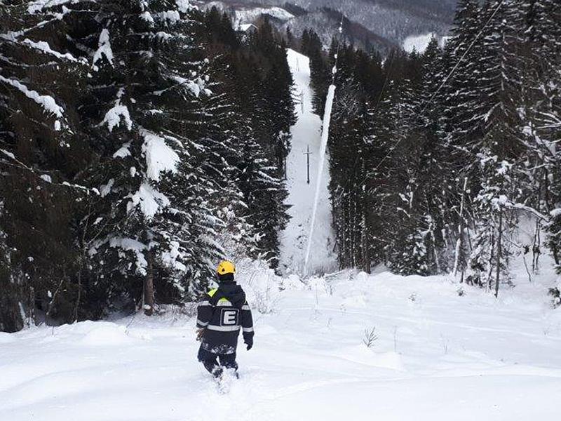 Schneechaos in der Obersteiermark