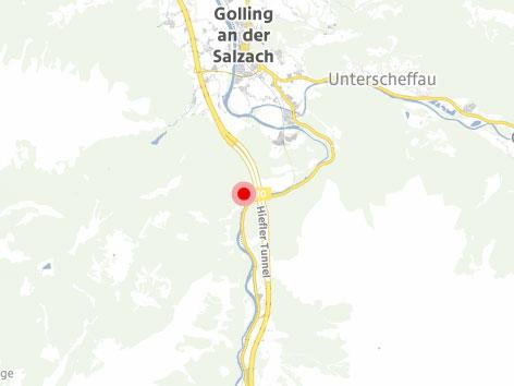 Karte der A10 bei Golling