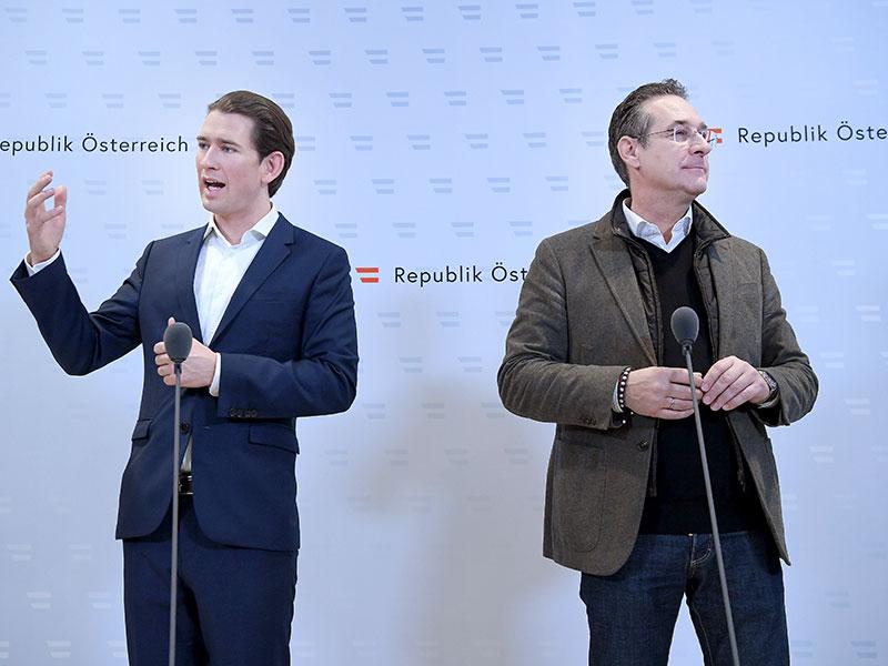 Kurz Strache Regierungsklausur Mauerbach