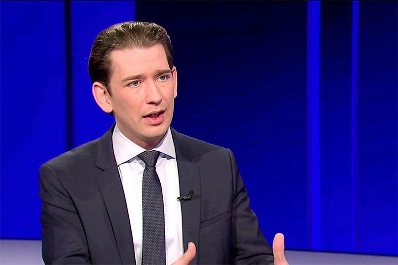 Bundeskanzler Sebastian Kurz in der ORF-Pressestunde