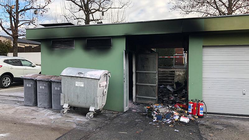 Müllraum Brand Klagenfurt
