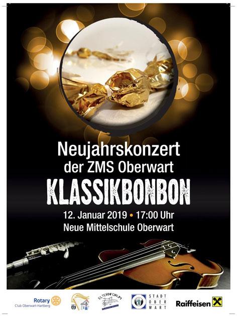 Klasszikus bonbon koncert plakát