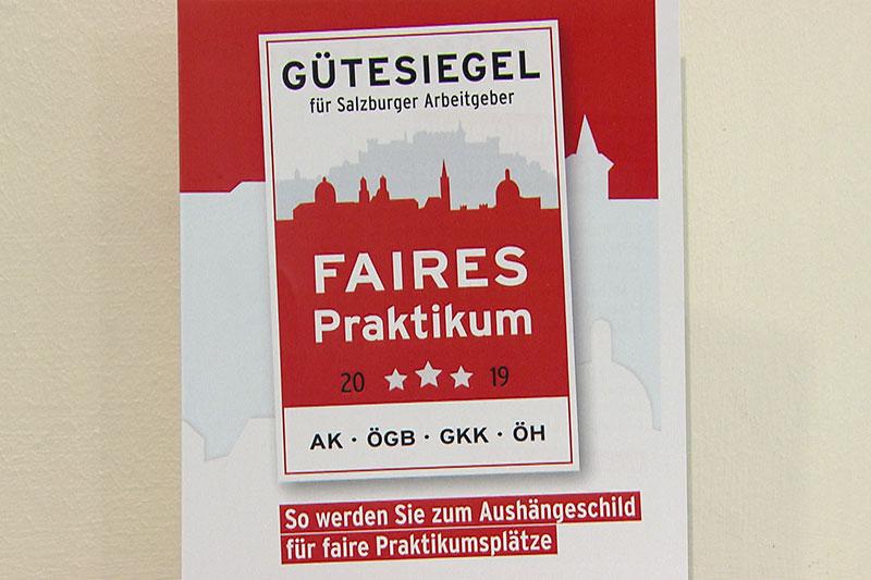 Praktikum Gütesiegel der Arbeiterkammer Salzburg