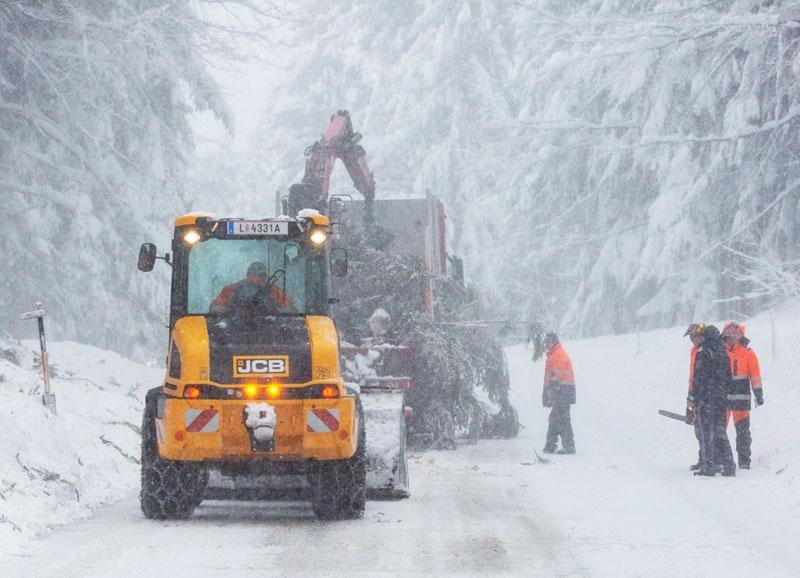 Schneeräumung bei Bad Leonfelden