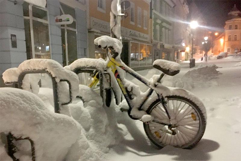 Schnee in Bad Leonfelden