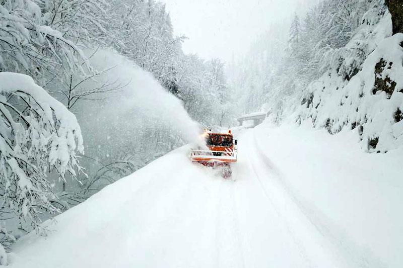 Schneeräumung auf Hochtouren
