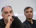 Von links Regisseur Ondřej Trojan und Schauspieler Jiří Macháček