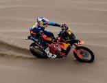 Matthias Walkner im Wüstensand bei der Rallye Dakar