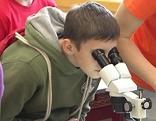 Schüler untersuchen Erde