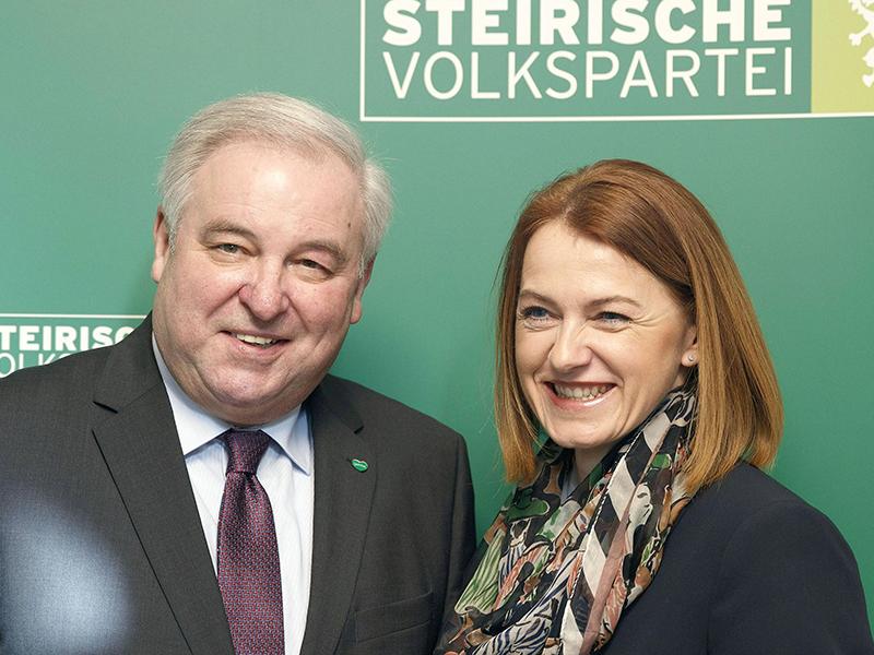 Hermann Schützenhöfer und Simone Schmiedtbauer