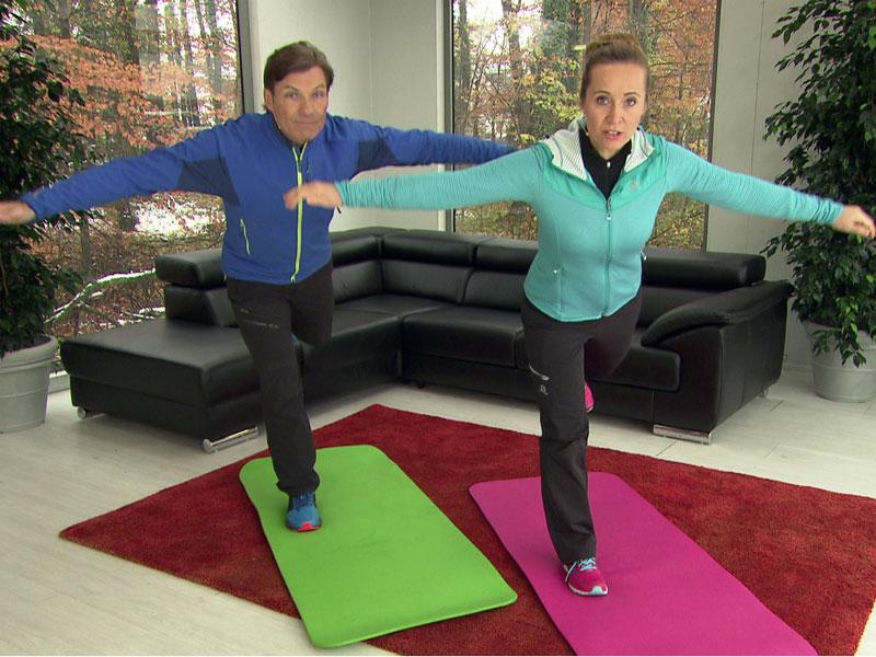 Michael Mayrhofer und Doresia Krings im ORF Wintergarten