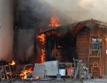 Brand in Industriegebäude Pinkafeld