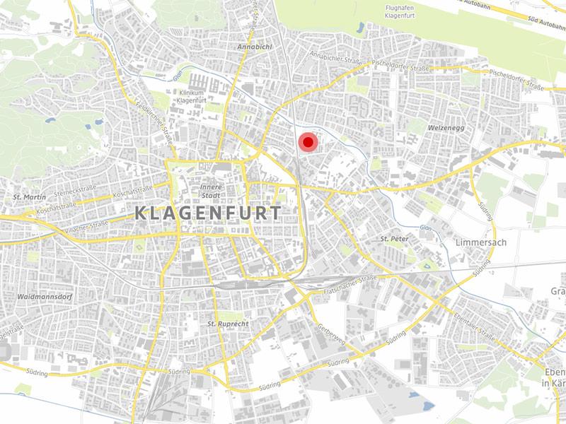 Neuner Areal Lederfabrik Klagenfurt Karte