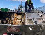 Panzerhaubitzen werden verschrottet